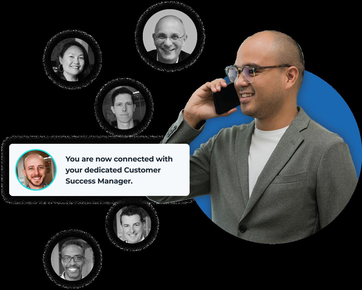 A customer success team