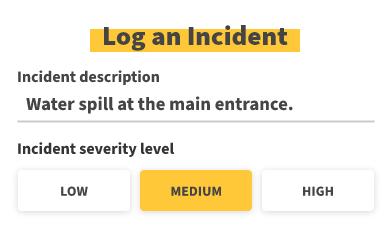 Log an Incident - mobile
